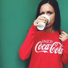COCA-COLA SWEATET Red sweater. Size medium, true to size. Great condition. NO TRADES, OFFERS WELCOME! Coca-Cola Sweaters Crew & Scoop Necks