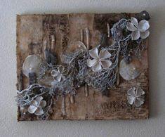 Natuurlijk schilderij...volledig gemaakt van gedroogde materialen en schelpen