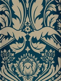 This damask wallpaper from the book Elixir is stunning! See it now at AmericanBlinds.com #wallcovering