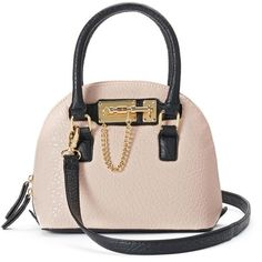 Apt. 9 Abell Mini Convertible Dome Satchel (Pink) ($29) ❤ liked on Polyvore featuring bags, handbags, pink, pink handbags, pink purse, vegan leather handbags, dome satchel handbag and mini handbags