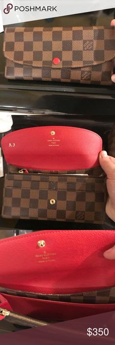 Authentic Louis Vuitton wallet In excellent condition. My ex had the AJ engraved into it when he purchased it, but other than that it looks brand new! Louis Vuitton Bags Wallets