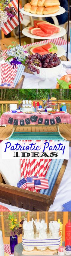 Patriotic Labor Day Party - tips and tricks and ideas for Memorial Day and Fourth (4th) of July parties too!