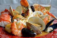 Fancy shellfish, lobster crab, shrimp mussels and crab in a very flavorful homemade broth that can be on the table in less than 45 minutes!
