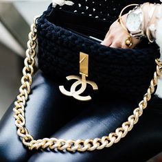Black and gold and #Chanel all over.
