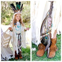 Gorgeous boho Sacagawea Indian Halloween costume! Completely no sew! Kara Allen | Kara's Party Ideas | KarasPartyIdeas.com #MichaelsMakers