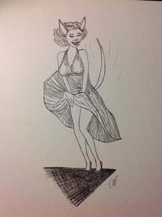 Bibi Monroe In The Seven Year Itch.
