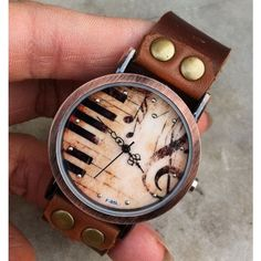 Handmade Piano Retro Leather Watch for only $23.90 ,cheap Retro Watches - New Style Watches online shopping,It is the wonderful retro watch.