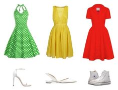 """""""Green, yellow or red?"""" by sara-balut on Polyvore featuring N°21, Stuart Weitzman, Converse and Paul Andrew"""