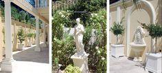jardins et terrasses extérieurs aux allures de Palais au restaurant spectacle st petersbourg à mougins.