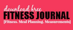 free fitness journal download