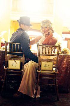 Casamento decoração Vintage Gatsby