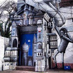 graffiti street art...  Un Hogar para mi Imaginación. . .  a home to my imagination