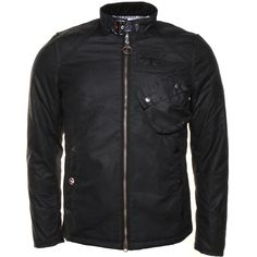 Barbour Steve McQueen™ Collection Mens Black Bonner Waxed Jacket