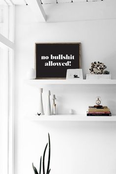Motivational Poster No Bullshit Allowed Wall by LovelyPosters