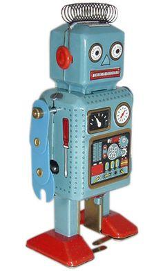 Space robot en métal