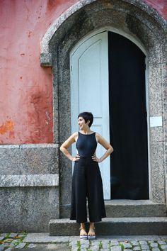 como usar maiô no dia a dia   Como usar pantacourt   blog Hoje Vou Assim OFF   Ana Soares #pantacourt #trousers #flatform #hojevouassimoff