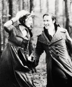 Anne Hathaway (Jane Austen) and James McAvoy (Mr. Thomas Lefroy) - Becoming Jane directed by Julian Jarrold (2007) #janeausten