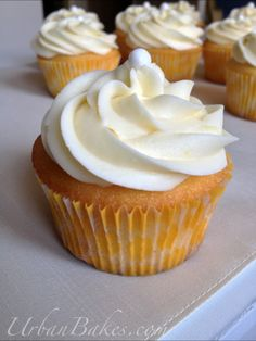Lemon Cupcake with Lemon Buttercream Frosting | Urban Bakes