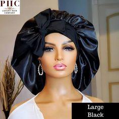 Silk Bonnet, Hair Bonnet, Prince Hair, Natural Hair Styles, Short Hair Styles, Pelo Afro, Bow, Stretch Bands, Malaysian Hair