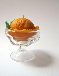 ORANGE SORBET CANDLE Ice Cream Citrus Creamscicle by kokocandles
