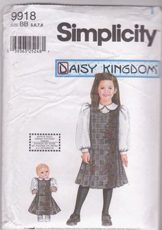 Sewing pattern for Daisy Kingdom girls jumper by beththebooklady, $9.99 ~ those Daisy Kingdom designs are very stylish and dressy for little girls