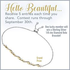 """BOLO """"Be on the lookout"""" for more chances to win! Grand Prize - A diamond BOLO bracelet!  Click here to learn how!  http://brownlee.perksocial.com"""