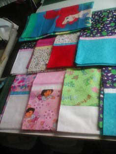 Pillowcases Shirley made to donate to Little Singer Community School #FoPRR