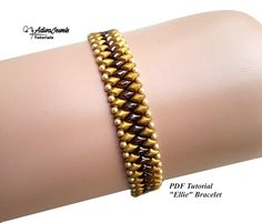 Beaded Bracelets Tutorial, Beaded Bracelet Patterns, Earring Tutorial, Beading Patterns, Beaded Jewelry, Jewelry Patterns, Jewelry Ideas, Carrie, Bracelet Patterns