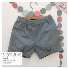 short infantil - molde e tutorial de costura