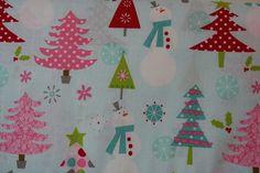 13,18€/m² Patchwork Stoff  Weihnachten  Riley Blake Rosa Türkis Grün Rot 30cm