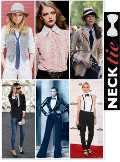 Women wearing ties