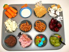 Googly Eyes and Blueberry Pies: Halloween Muffin Tin Meals