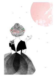 La danseuse et l'oiseau, My lovely things http://mylovelything.com/fr/affiches/27-la-danseuse-et-l-oiseau.html