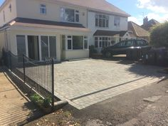 RSG4200 railings fitted to a residential property in Fulmer.