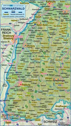 Ettlingen Germany Map Of Black Forest Germany Baden