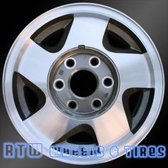 """Chevy Blazer wheels for sale 1992-1994 16"""" Machined Charcoal rims 5015 - http://www.rtwwheels.com/store/shop/chevy-blazer-wheels-for-sale-92-94-16-machined-charcoal-rims-5015/"""