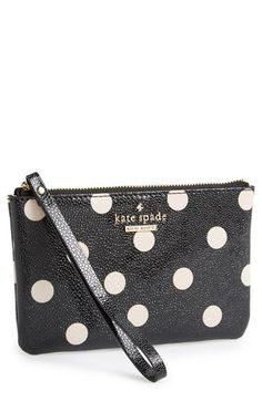 Free shipping and returns on kate spade new york 'cedar street dot - bee' wristlet at Nordstrom.com. A gilded spade charm shines against the rich, pebbled texture of a petite wristlet with signature dots.