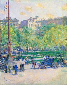 Union Square - Childe Hassam