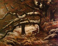 Deer Shelter - Gustave Courbet