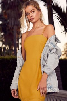 Toast to Life Mustard Yellow Mini Dress 5