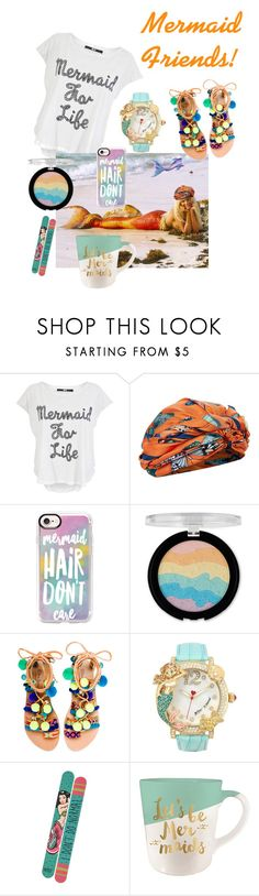"""Let's Be Mermaids!"" by dmdivagirl ❤ liked on Polyvore featuring Iron Fist, Dee Di Vita, Casetify, Forever 21, Elina Linardaki, Betsey Johnson and Slant"