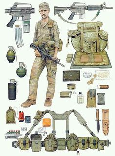 military cold war equipment, leftovers from the vietnam era.