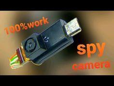 how to make mini org spy cctv camera at Home. Spy Video Camera, Mini Spy Camera, Latest Technology Gadgets, Technology Hacks, Techno Gadgets, Spy Gadgets, Electronics Basics, Electronics Projects, Usb