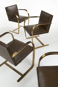 822: Ludwig Mies van der Rohe / Brno chairs, set of ten < Circa 70, 6 December 2005 < Auctions   Wright