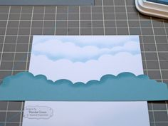 How to stamp clouds...maybe use on Mimi card?