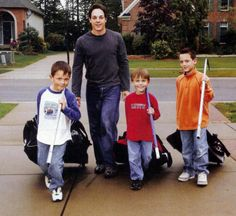 Danny Briere with his sons