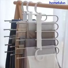 Multi-Functional Pants RacK Space Saving Design: The adjustable storage rack can be hung steadily with two hooks or it can be hung vertically, it can hold up to 5 pairs of pants at one time and it will make your closet tidier. Bedroom Closet Design, Closet Designs, Diy Bedroom, Dream Bedroom, Diy Master Closet, Wardrobe Interior Design, Simple Bedroom Design, Bedroom Cupboard Designs, Bedroom Hacks