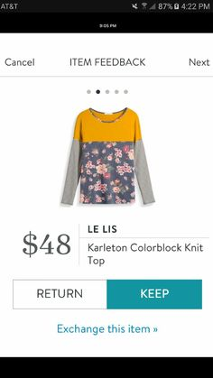 Le Lis Karleton Colorblock Knit Top....absolutely love this! I love the conflicting pattern and colors!
