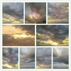 Grey skies at Sunset.