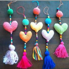 Corazon Love Crochet, Crochet Motif, Crochet Toys, Crochet Stitches, Crochet Baby, Knit Crochet, Crochet Patterns, Yarn Crafts, Diy And Crafts